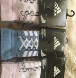 Шкарпетки дитячі 3 махрові Adidas оригінал