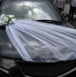 Свадебная лента на авто