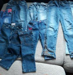 Jeans 9 buc între 1-6 ani