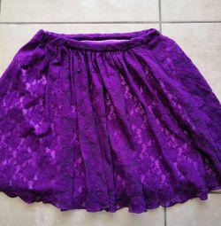 Handmade fishnet skirt