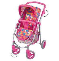 Yeni 8180-1 bebek üç tekerlekli bebek arabası pembe