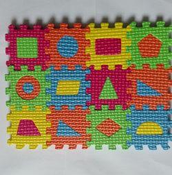 Children's educational puzzles geometric shapes