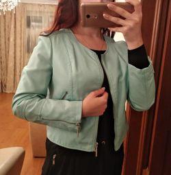 Новая кожаная куртка M-L