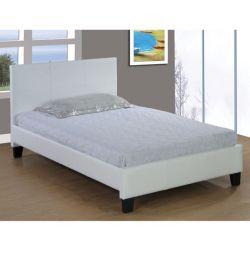 Κρεβάτι Fenia σε Ματ Λευκό PU 110x190