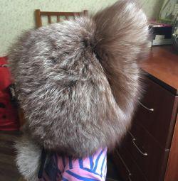 Меховая Детская шапка песец