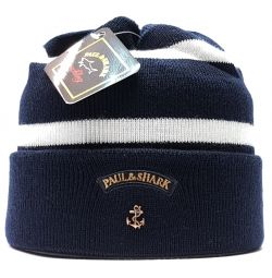 Paul Shark шапка (бел / синій)