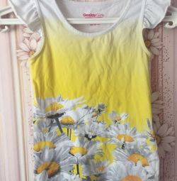T-shirt with print Camomiles 3D
