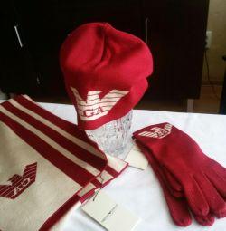 Σετ καπέλων, κασκόλ, γάντια EMPORIO APMANI
