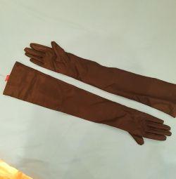 Δερμάτινα γάντια με στενή λαβή