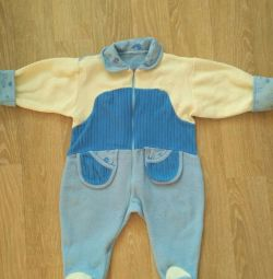 Fleece jumpsuit 74 cm