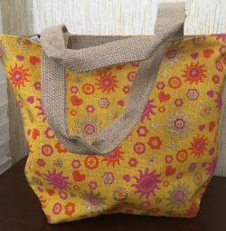 Jute bag (beach) with zipper