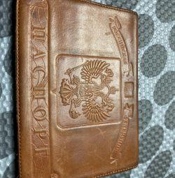 Чехол на паспорт кожа