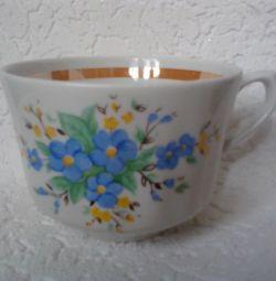 Porcelain tea cup DFZ, stamp
