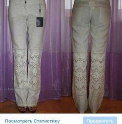 Брюки новые лён Dolce&Gabbana Италия размер 46 М к