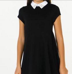 Dress with a white collar Zarina