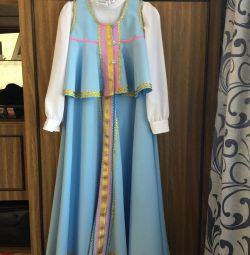 Costum folcloric pentru copii din Rusia