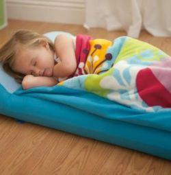 ♥ Παιδικό κρεβάτι + Headrest Αντλία για υπνόσακο