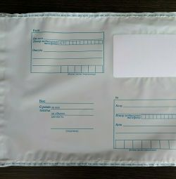 Plastic mail envelopes, packages