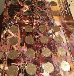 Madeni para koleksiyonu.