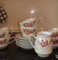 Tea set for 6 people, 13 items