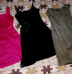 Three dresses p. 40/42 new and bu