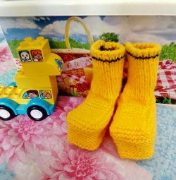 Yellow little booties