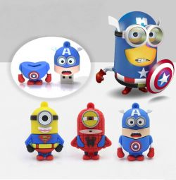 USB flash drives Minions - superheroes