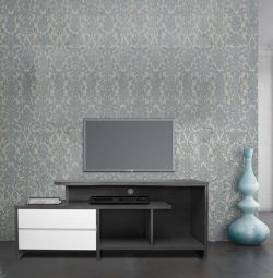 TELEVISION FURNITURE HM2212.02 2 GRAY-WHITE DRAWER