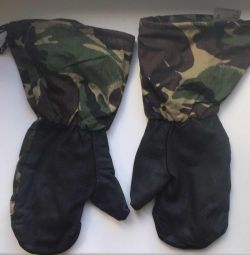 British Army Leather Gauntlets