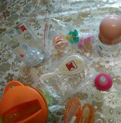 nipples, small bottles