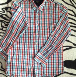 Мужская рубашка, клечатая