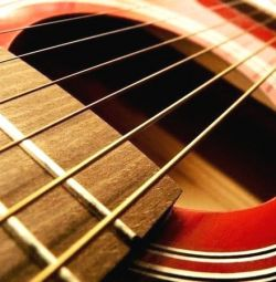 Strings for guitar: classic, electric, acoustics