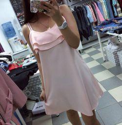 Платье в цвете пудра