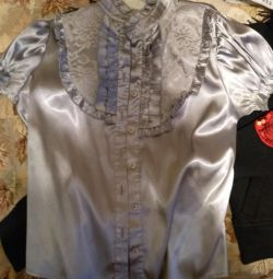 Блуза шкільна атласна р. 152-158