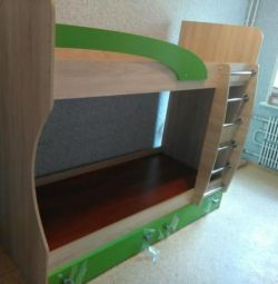 Sistemul de colibri pentru copii. Bunk bed