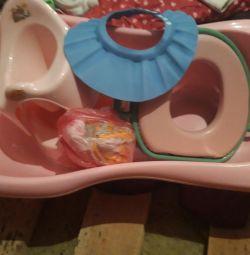 Παιδικό μπανιέρα με αιώρα + γείσο για κολύμβηση