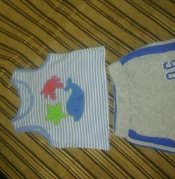 Костюмчик летний детский и две майки