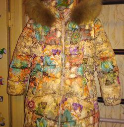 Куртка зимняя на девочку 116р
