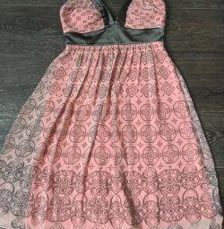 Платье из Франции 100% шeлк