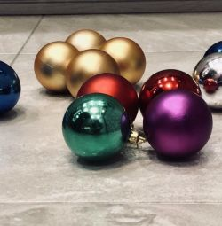 Set of Christmas tree decorations (balls and cones), total 25 pcs