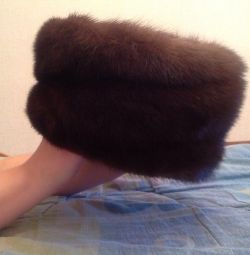Female mink hat.