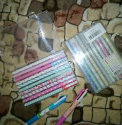 Gel pens kit + four-color pen