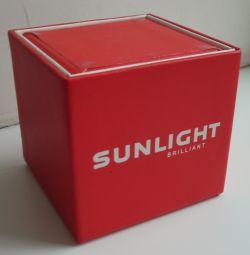 Κουτί δώρου κόκκινο φως του ήλιου