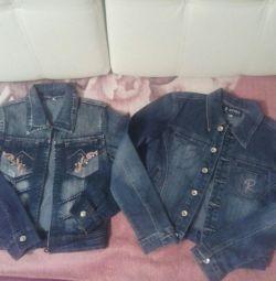 Vânzarea de jachete de blugi