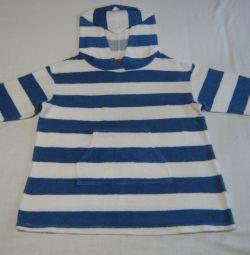 Παιδικό πουκάμισο παραλίας με κουκούλα 110-116