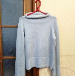 Μάλλινο πουλόβερ με βισκόζη