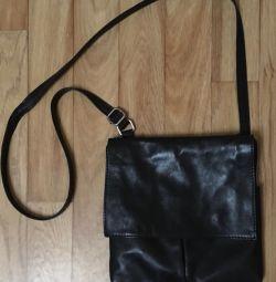 Τσάντα, γνήσιο δέρμα. Ιταλία