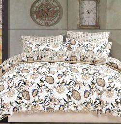 Bed linen satin 100% cotton