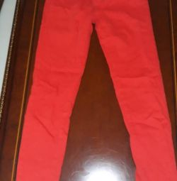 New Women's Red Jeans