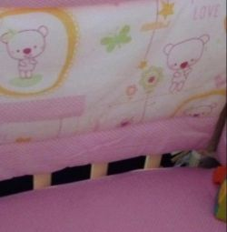Bed linen for baby cots